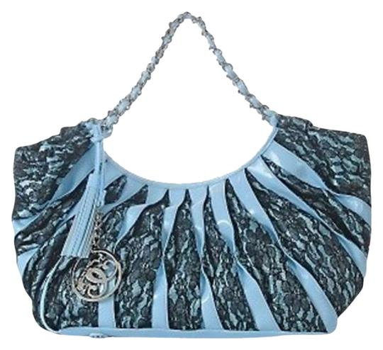 Preload https://img-static.tradesy.com/item/382654/sharif-miracle-blueblack-patent-and-lace-hobo-bag-0-0-540-540.jpg