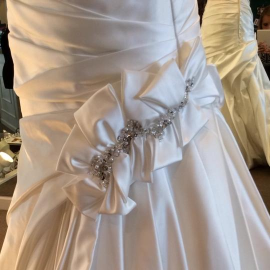 Allure Bridals Off White Satin Wedding Dress Size 10 (M)
