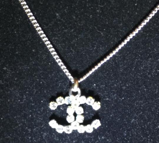 Chanel Chanel Crystal CC Logo Necklace