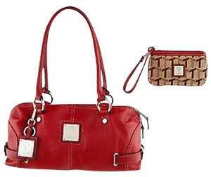 Tignanello Leather Shoulder Satchel in Red