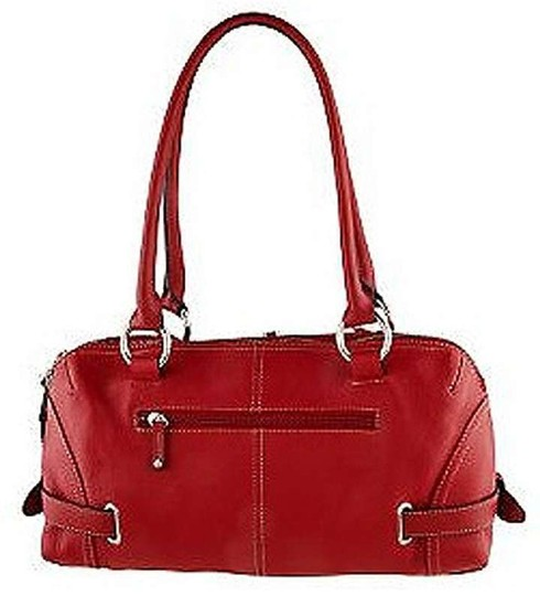 Tignanello Leather Shoulder Shoulder Satchel in Red
