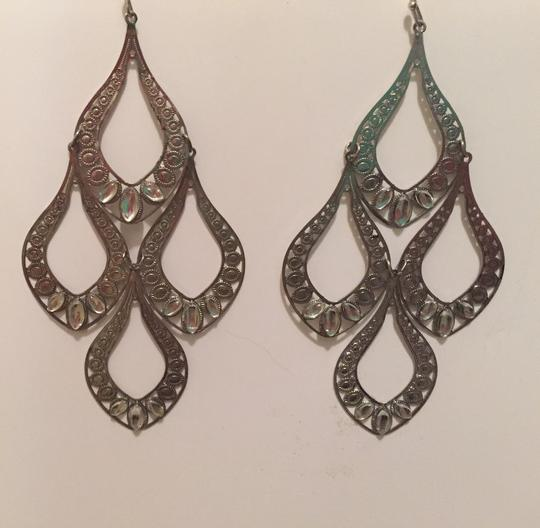 Forever 21 2 Pairs Of Silver Colored Dangle Earrings