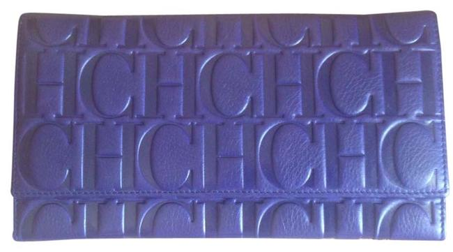Item - Purple 'ch' Embossed Leather Wallet