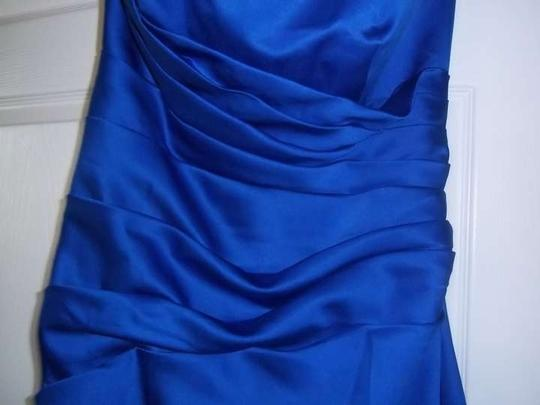 David's Bridal Royal Blue Formal Bridesmaid/Mob Dress Size 12 (L)