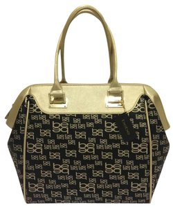 bebe Satchel in Black And Gold