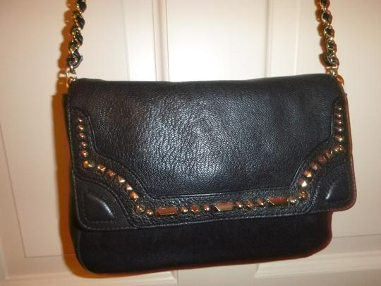 Juicy Couture Monogram Studded Leather Cross Body Bag