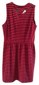 J.Crew short dress Navy/red stripe on Tradesy