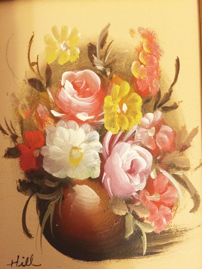 Hill Floral Oil Painting (10.25