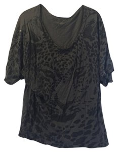 Free People Leopard Print T Shirt Grey