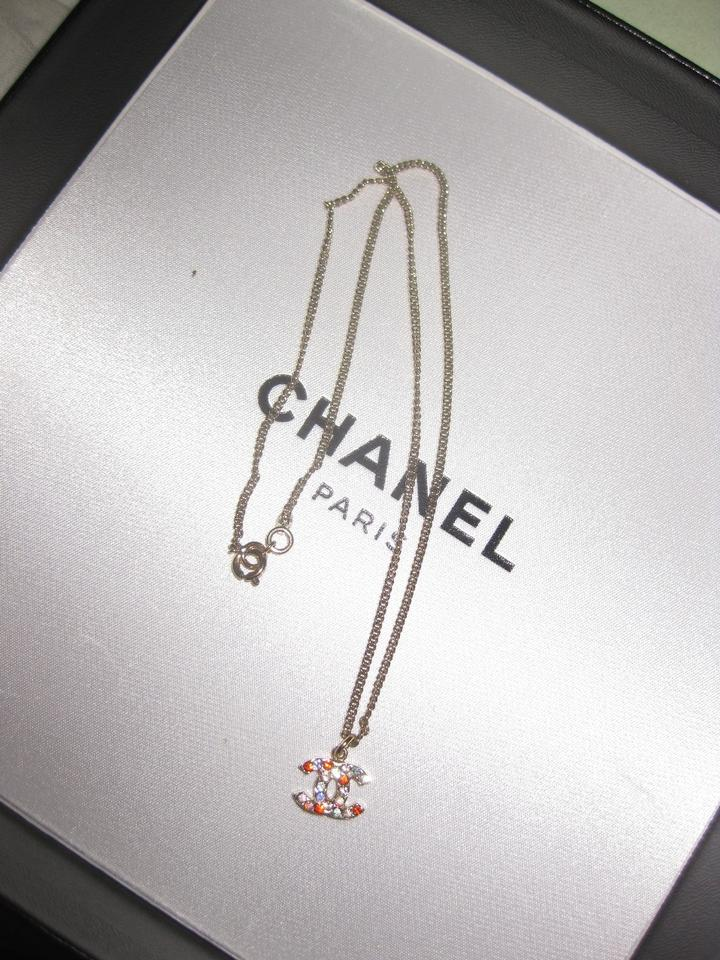Chanel multicolor crystal colorful cc logo pendant gold reversible chanel multicolor crystal colorful cc logo pendant gold reversible 04a necklace tradesy aloadofball Image collections