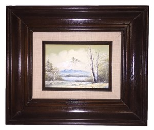 Oher Mount Rainer Winter Landscape Oil Painting ( 13.5L