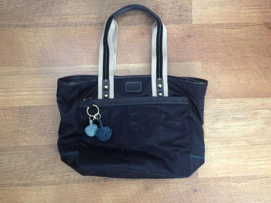 Preload https://item1.tradesy.com/images/coach-black-nylon-with-leather-and-suede-trim-tote-382885-0-0.jpg?width=440&height=440