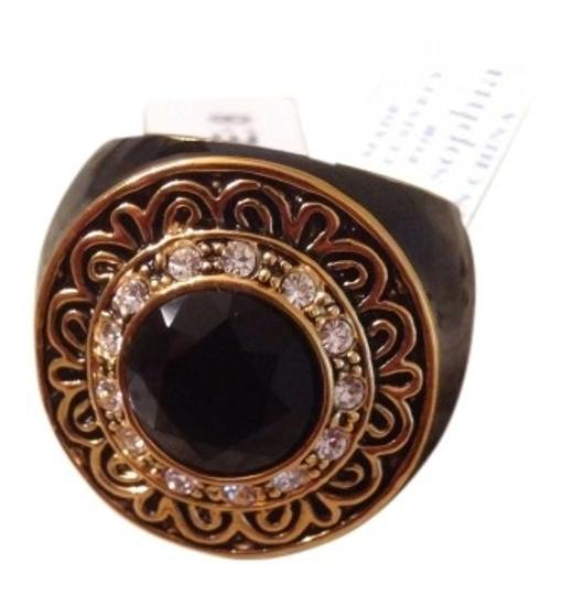 Preload https://img-static.tradesy.com/item/382891/lia-sophia-gold-and-black-ring-0-0-540-540.jpg