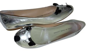 Marc by Marc Jacobs Crystal Eyes Silver Flats