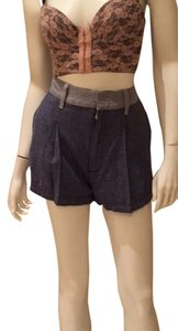 7 For All Mankind Two-tone Denim Denim Shorts