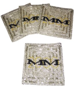 Saks Fifth Avenue Saks Fifth Avenue 4-Bugle Beaded Coasters (2000 Celebration) [ Roxanne Anjou Closet ]
