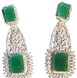 Beautiful Evening Indian Emeralds With CZ