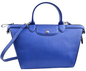 Longchamp 0965735 Cobalt Satchel in Blue