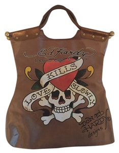 Ed Hardy Tote in Bronze