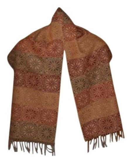Preload https://img-static.tradesy.com/item/382950/multiolivemustardburgundy-pure-wool-shawlscarf-scarfwrap-0-0-540-540.jpg