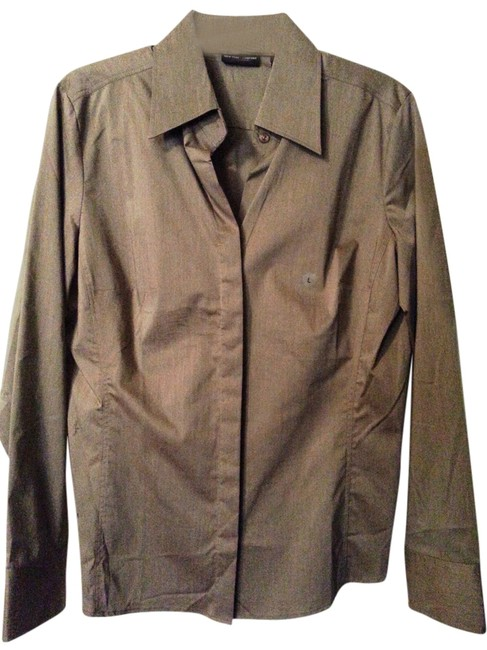 Item - Taupe/Brown Button-down Top Size 12 (L)