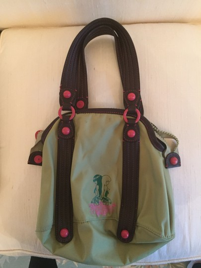 Juicy Couture Tote in Moss Green/Pink