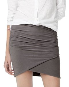 James Perse Wrap Bodycon Sexy Ruched Mini Skirt Gray