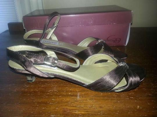 Dyeables Chocolate Brown Dress with Crystal Accent Sandals Size US 7.5 Wide (C, D) Image 2