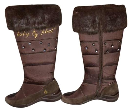 Preload https://item5.tradesy.com/images/baby-phat-brown-knee-high-stylish-bootsbooties-size-us-9-382979-0-0.jpg?width=440&height=440