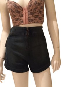 Free People Lace Up Denim Jeans Jean Shorts
