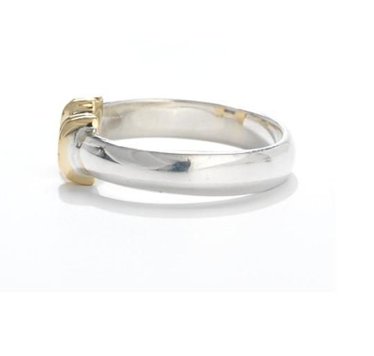 Tiffany & Co. Tiffany & Co Unique 18k Gold and Silver Sapphire Ring