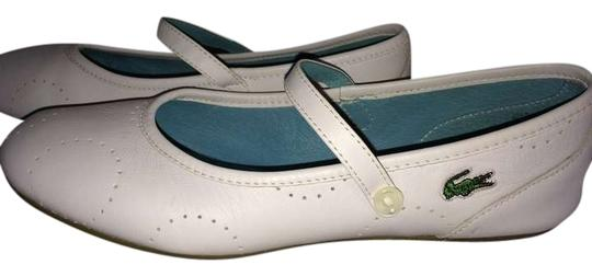 Preload https://item3.tradesy.com/images/lacoste-white-flats-size-us-85-383057-0-0.jpg?width=440&height=440