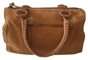 Other Good Kharma Purse Lined Chambray Organization Rolled Handles Satchel in Tan