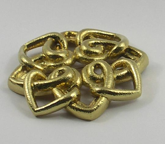 Other Large David Webb Hammered Gold Brooch