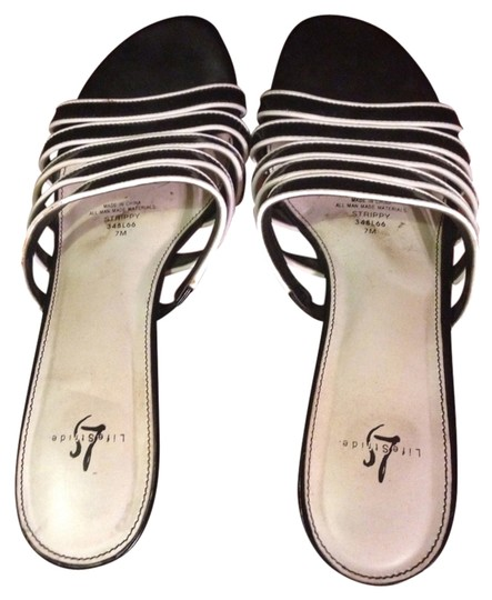 LifeStride Black And White Sandals