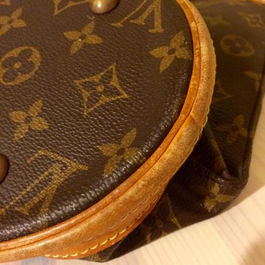 Louis Vuitton Monogram Leather Leather Trim Bucket Bucket Usa Paris Shoulder Bag