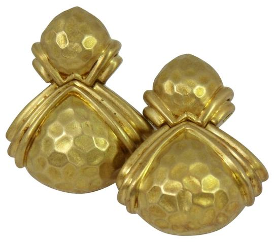 Hammerman Brothers Hammerman Brothers Hammered Gold Earrings