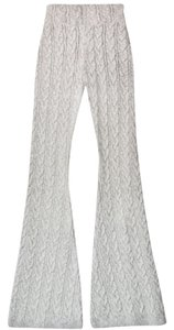 For Love & Lemons S M Haute Hippie Nightcap Dvf Flare Pants Grey