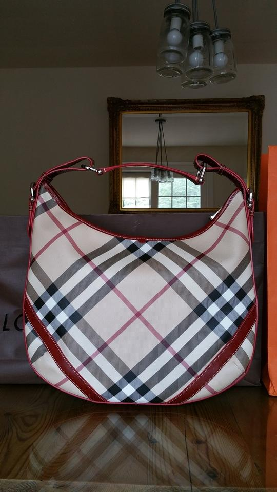 23d7af4723c0 Burberry Nova Check Buckle Beige Canvas Hobo Bag - Tradesy