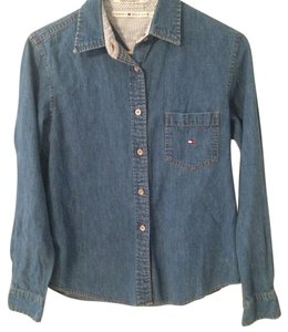 Tommy Hilfiger Button Down Shirt Light blue jeans