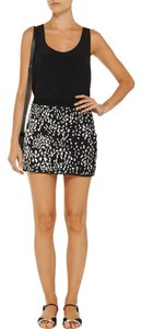 Haute Hippie Mini Skirt Black with white sequins