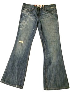 Juicy Couture Distressed Rhinestone Flare Leg Jeans-Distressed
