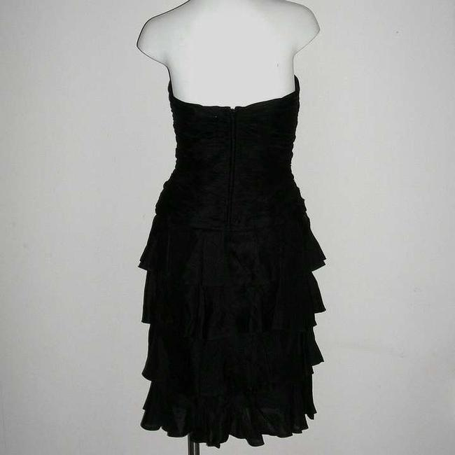 A.J. Bari A Bustier Vintage Ruffled Vintage A Layered Vintage Holiday Little Sexy Ruffles Vintage Ruffled Silk Party Dress