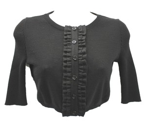 Moschino Cheap And Chic Crop Black Knit Top