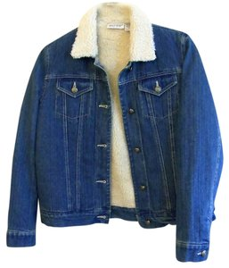 Kim Rogers Fleece Denim Blue Jacket