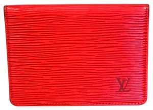 Louis Vuitton Louis Vuitton Epi Red Mens Unisex Credit Card