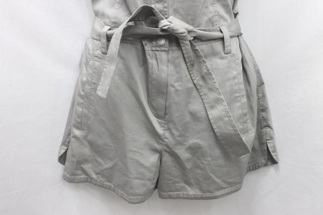 A X Armani Exchange Light Gray Cotton Belted Dress