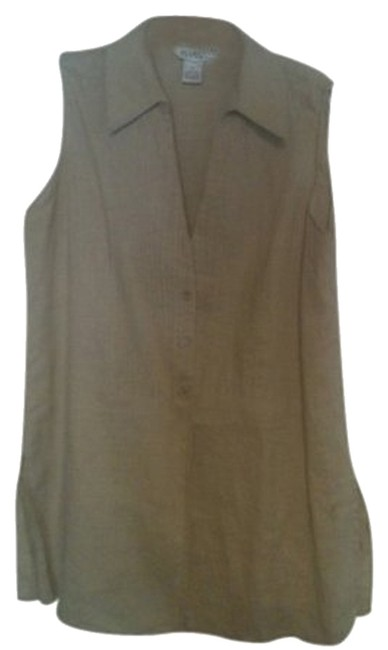 Preload https://item1.tradesy.com/images/allison-taylor-khaki-blouse-size-10-m-383255-0-0.jpg?width=400&height=650