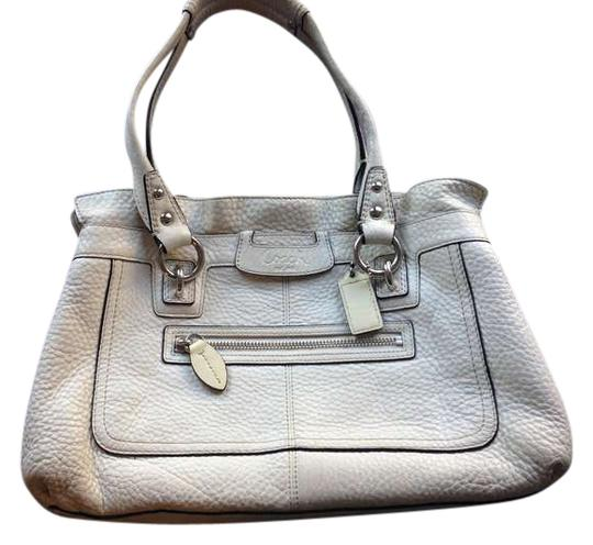 Preload https://item5.tradesy.com/images/coach-white-with-black-trim-leather-satchel-383259-0-0.jpg?width=440&height=440