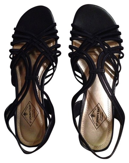 St. John Navy Blue Sandals